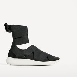Zara lace up sneakers